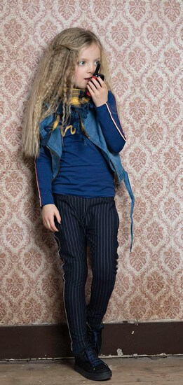 Kindermode Nono Winter 2018/19 Nono Hose Secler navy stripe #5602