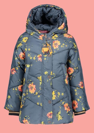 Nono Winterjacke Flowers blue #5203 von Nono Winter 2019/20