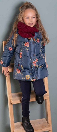 Kindermode Nono Winter 2019/20 Nono Winterjacke Flowers blue #5203