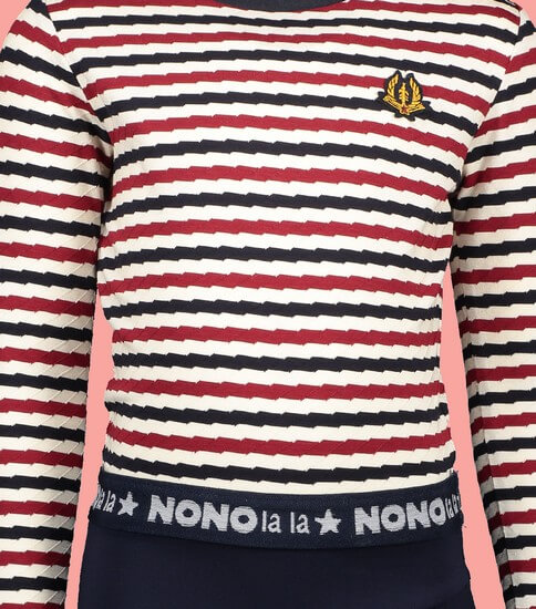 Kindermode Vorbestellung Nono Winter 2019/20 Nono Kleid Manu striped white #5805
