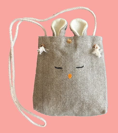 Kindermode Nono Winter 2019/20 Nono Tasche / Bag Luna Bunny canvas #5902