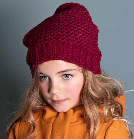 Kindermode Nono Winter 2019/20 Nono Set 2teilig Mütze + Schal Laura red #5902