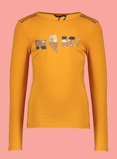 Kindermode Nono Winter 2020/21 Nono Shirt Kuy Artwork intense-gold #5409