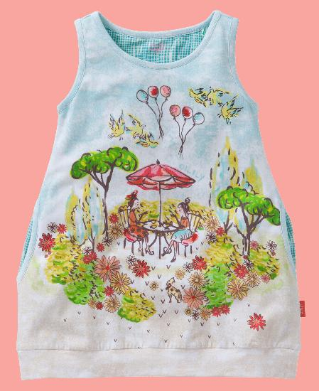 Kindermode Oilily Sommer 2016 Oilily Tunika / Kleid Trozz Tea in the Park #285