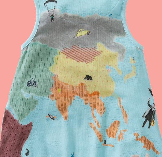 Kindermode Oilily Sommer 2016 Oilily Kleid / Tunika Trozz maps blue #286
