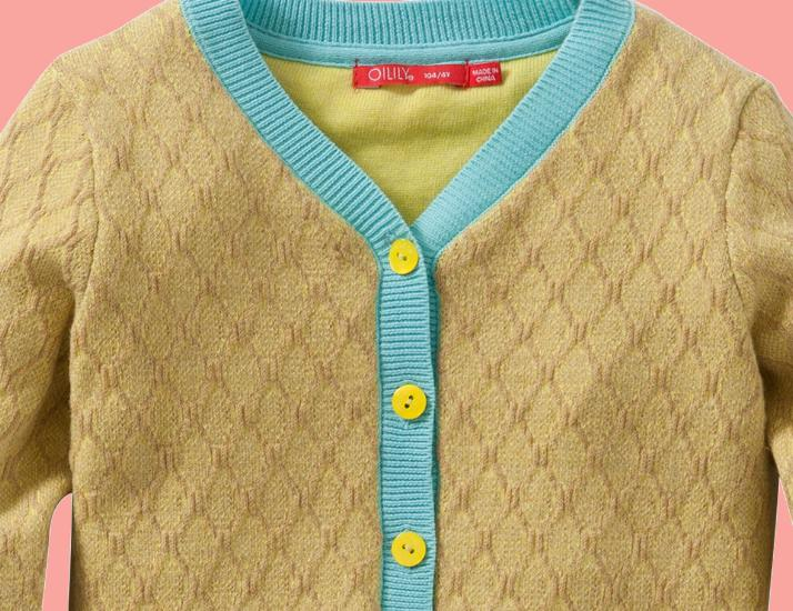 Kindermode Oilily Sommer 2016 Oilily Strickjacke Kootje yellow #245
