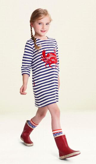 Oilily Kleid Haring Crab striped blue #E263