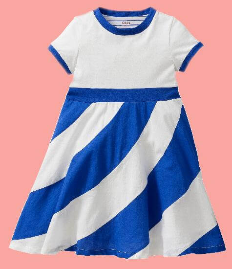 Kindermode Oilily Sommer 2017 Oilily Kleid Dazzle white blue #R206