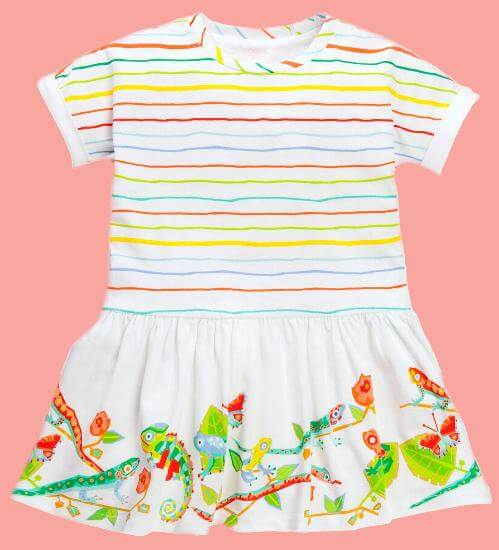 Kindermode Oilily Sommer 2017 Oilily Kleid Troterly Rainforest Animals white #R285