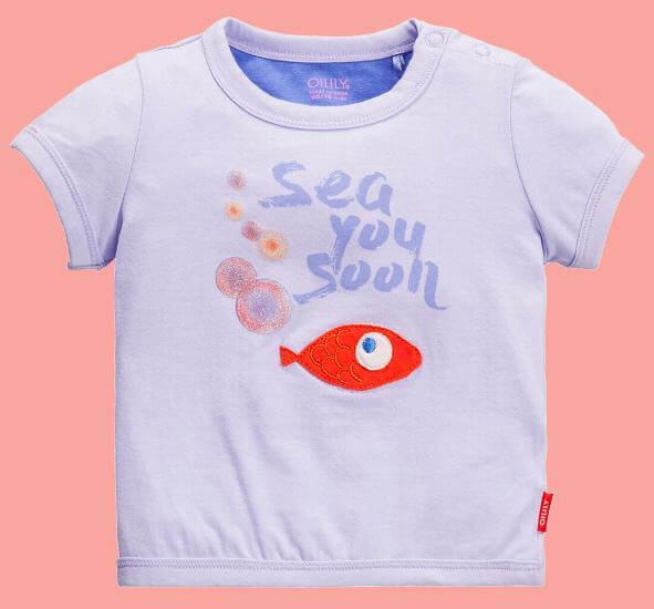 Kindermode Oilily Sommer Oilily T-Shirt Tyna Sea you soon blue #E011