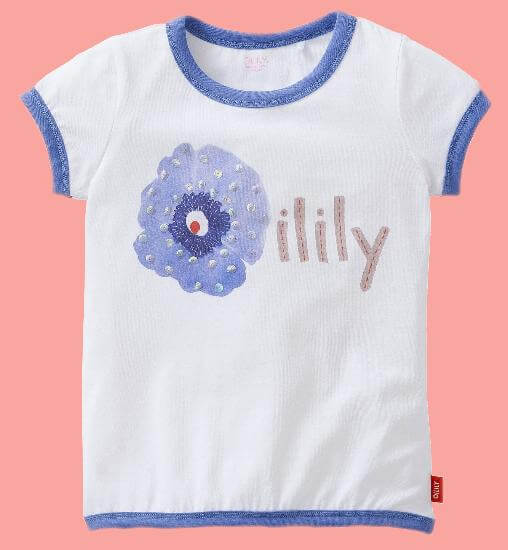 Kindermode Oilily Sommer 2017 Oilily T-Shirt Tyna Poppie white #E225
