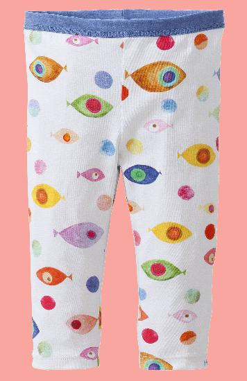 Kindermode Oilily Sommer 2017 Oilily Leggings Taski Fish white #A083