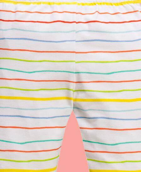 Kindermode Oilily Sommer 2017 Oilily Leggings Tappy Rainbow striped white #A282
