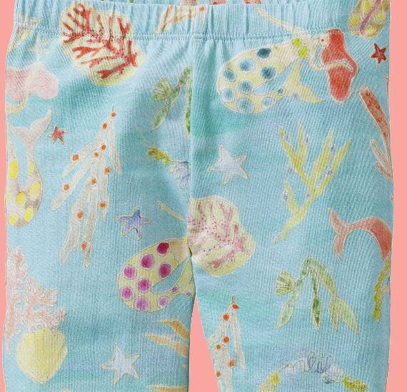 Kindermode Oilily Sommer 2017 Oilily Leggings Tappy Mermaids and Corals lightblue #A283