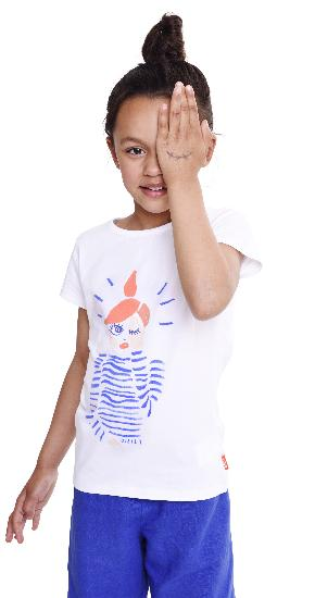 Oilily T-Shirt Ti Wink Girl white #E208