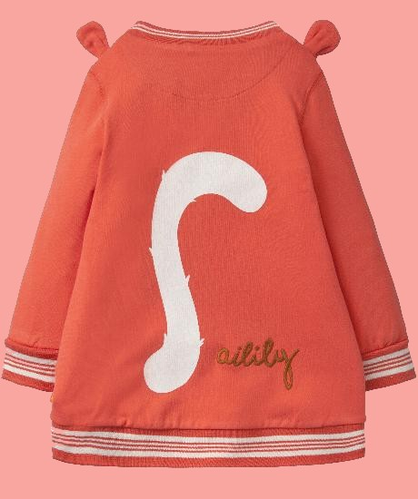 Kindermode Oilily Sommer 2018 Oilily Kleid / Sweatkleid Huppel Squirrel coral #062