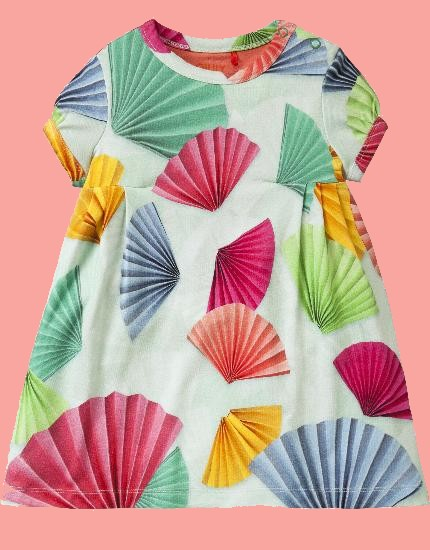 Kindermode Oilily Sommer 2018 Oilily Kleid Trada Fans green #088