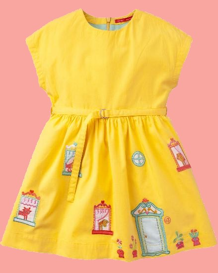 Kindermode Oilily Sommer 2018 Oilily Kleid Djolly yellow #207