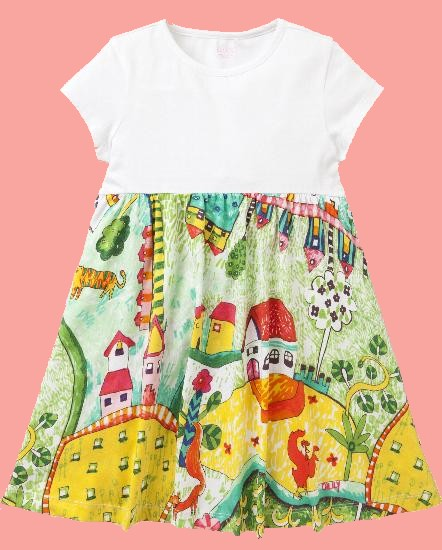 Kindermode Oilily Sommer 2018 Oilily Kleid Thevillage countryside white #285