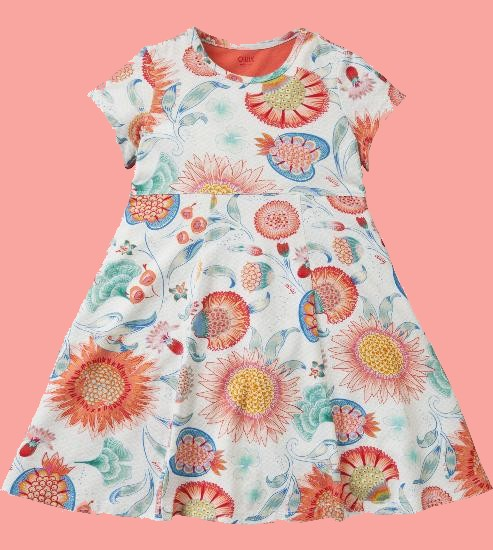 Kindermode Oilily Sommer 2018 Oilily Kleid Thildy Sun Flower white #286