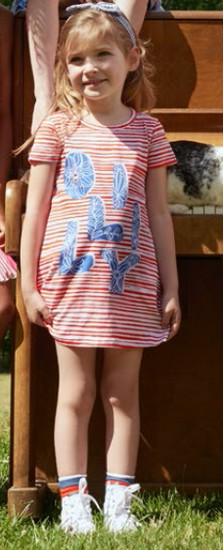 Kindermode Oilily Sommer 2018 Oilily Kleid Trulia red stripe #290