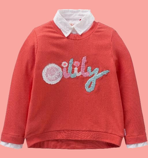 Kindermode Oilily Sommer 2018 Oilily Pullover Hiltje coral #202
