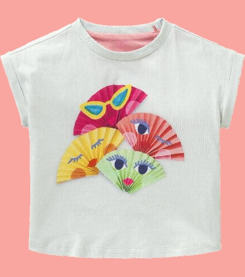 Kindermode Oilily Sommer 2018 Oilily T-Shirt Toxora Fans green #224