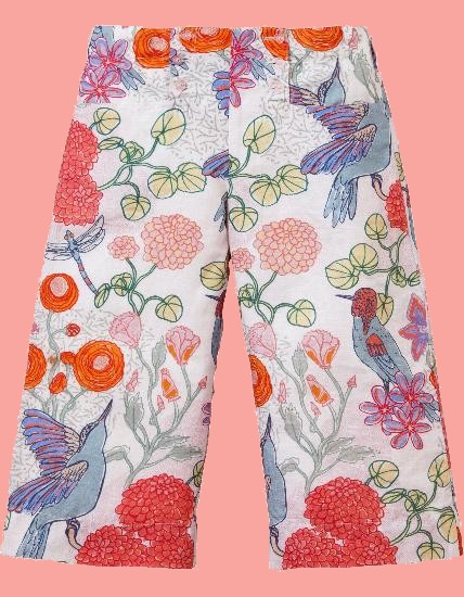 Kindermode Oilily Sommer 2018 Oilily 7/8 Hose Pixel Humming Birds white #205