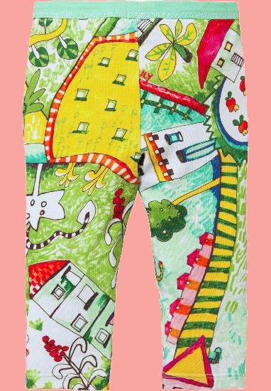 Kindermode Oilily Sommer 2018 Oilily Leggings Taski Countryside multicolor #285