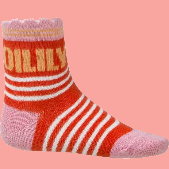 Kindermode Oilily Sommer 2018 Oilily Socken Mapple apple and stripes red #202