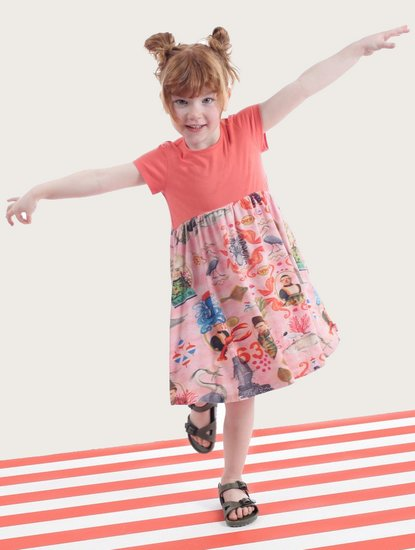 Kindermode Oilily Sommer 2019 Oilily Kleid Thevillage AOP #292