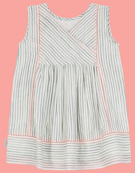 Kindermode Oilily Sommer 2019 Oilily Kleid Durf white stripes #006