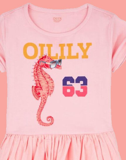 Kindermode Oilily Sommer 2019 Oilily Kleid Dabra pink #215