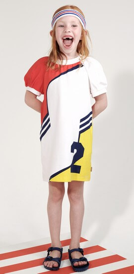 Oilily Kleid Tokio jersey white-yellow-red #286