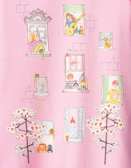 Kindermode Oilily Sommer 2020 Oilily Kleid Thehouse Windows pink #086