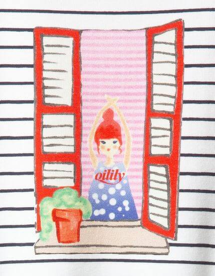 Kindermode Oilily Sommer 2020 Oilily Kleid Trontonde Girl in the Window red #087