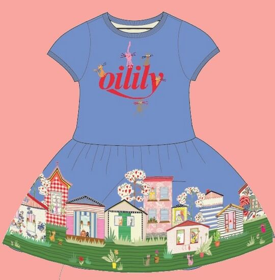Kindermode Vorbestellung Oilily Sommer 2020 Oilily Kleid Thedoor City blue #085