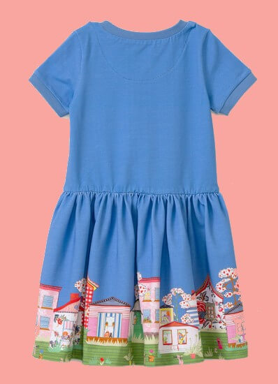 Kindermode Oilily Sommer 2020 Oilily Kleid Thedoor City blue #085