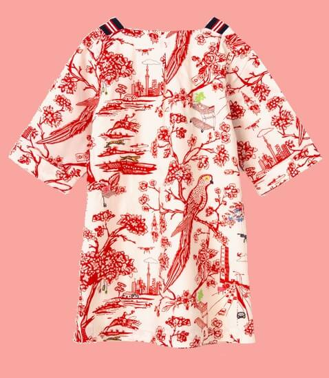Kindermode Oilily Sommer 2020 Oilily Kleid Douwe embroidery red #208