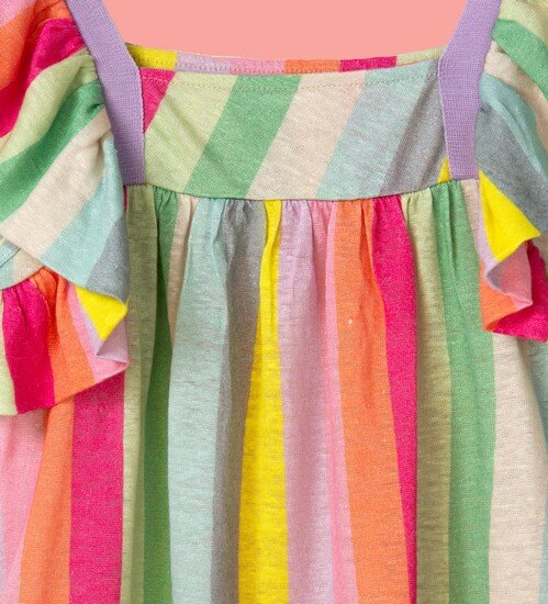 Kindermode Vorbestellung Oilily Sommer 2020 Oilily Kleid Thecountry stripes green #284