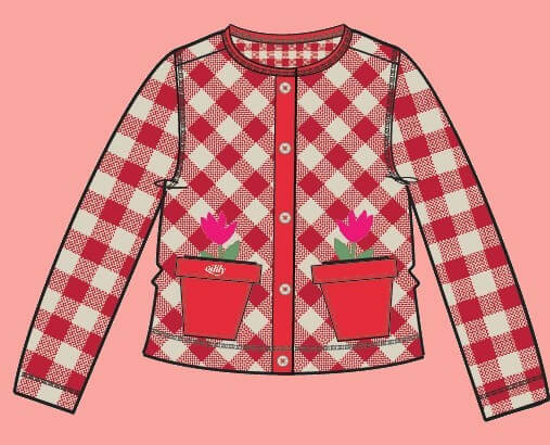 Kindermode Vorbestellung Oilily Sommer 2020 Oilily Jacke Toep Flowerpots red #042