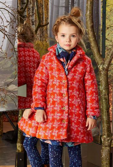 Kindermode Oilily Winter 2015/16 Oilily Winterjacke / Mantel Celine orange #202