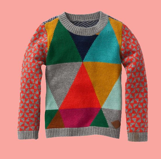 Kindermode Oilily Winter 2015/16 Oilily Strickpullover Konan multicolour triangle #501