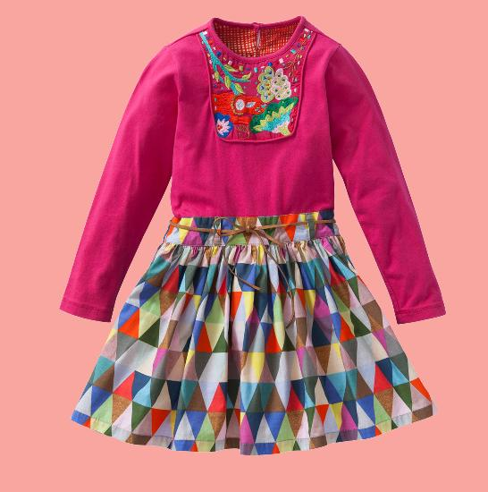 Kindermode Oilily Winter 2015/16 Oilily Kleid Deena pink triangle #205