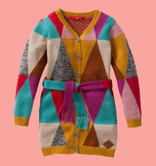 Kindermode Oilily Winter 2015/16 Oilily Strickjacke / Cardigan Kip multicolour triangle #246