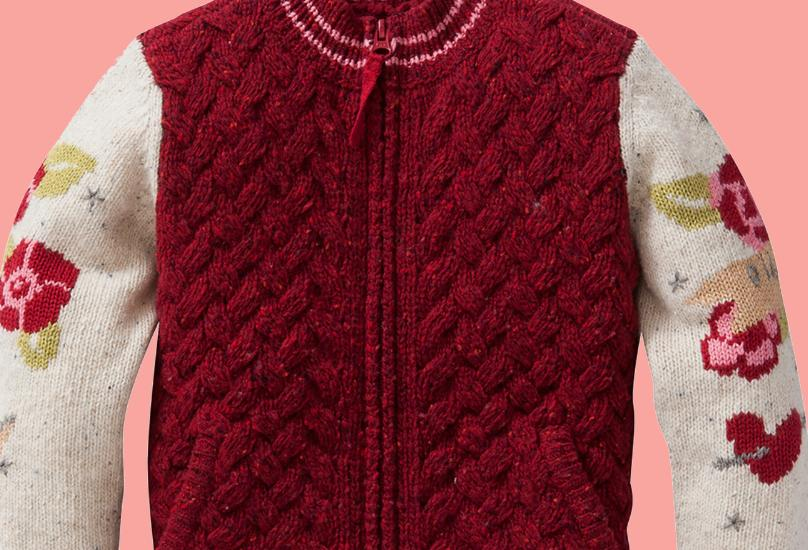 Kindermode Oilily Winter 2015/16 Oilily Jacke / Cardigan Krabb red #247