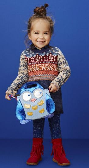Kindermode Oilily Winter 2015/16 Oilily Strickkleid Kasja blue houses #071