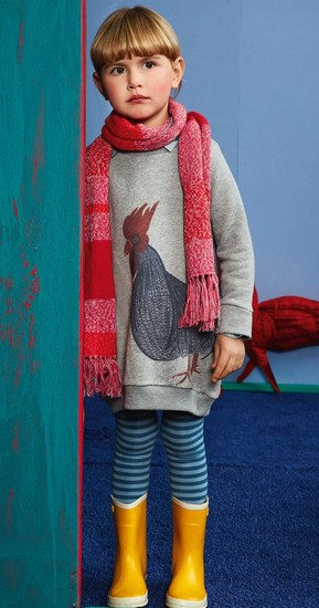 Oilily Kleid /Sweatkleid Hanna rooster grey #262