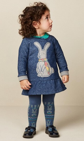 Oilily Kleid / Sweatkleid Hanuka rabbit blue #062