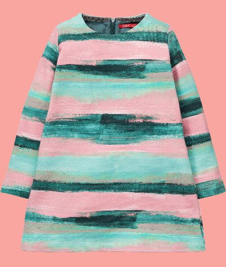 Kindermode Oilily Winter 2017/18 Oilily Kleid / Sweatkleid Hara stripe pink #263